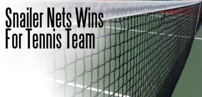Snailer Nets Wins for Tennis Team