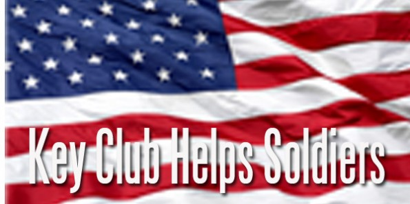 Key Club Collects Donations for Soliders
