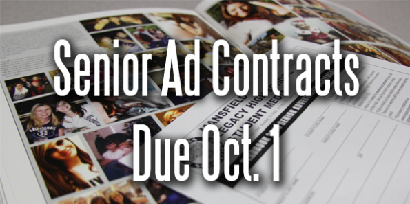 Senior Ad Contracts Due Monday, Oct. 1