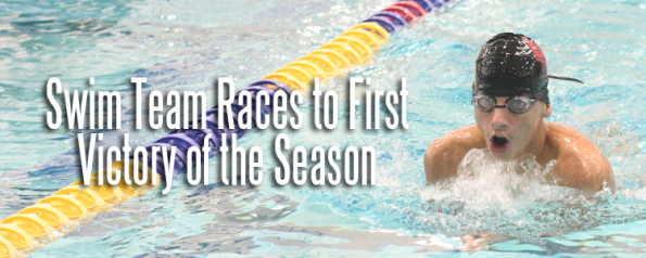 Swim Team Races to First Victory of the Season