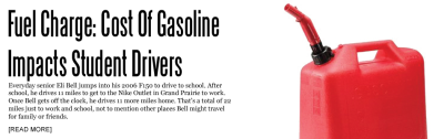 Fuel Charge: Cost Of Gasoline Impacts Student Drivers