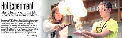 Hot Experiment: Mrs. Mullis' Fire Lab a Favorite with Many Students