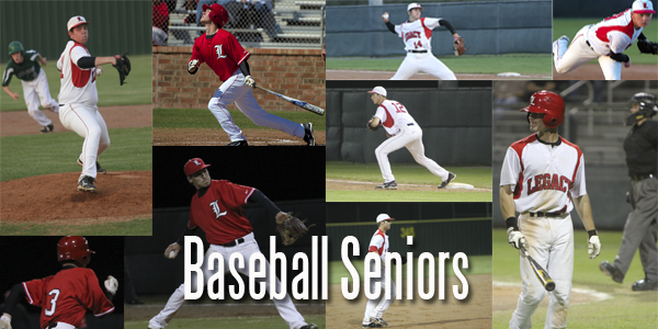 Senior Baseball Players Look Forward