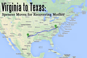 Virginia to Texas
