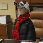 Olga, Ms. Long's friend, found in Dr. Butler's office, continues to prank faculty and staff.
