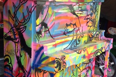 Art Teacher Debuts Painted Piano