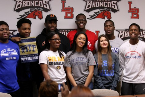 Student Athletes Commit to Colleges