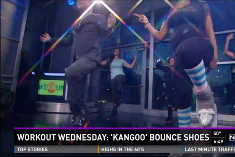 Teacher Shows Off Her Kangoo Jumps