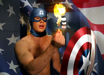 Image result for captain america human torch