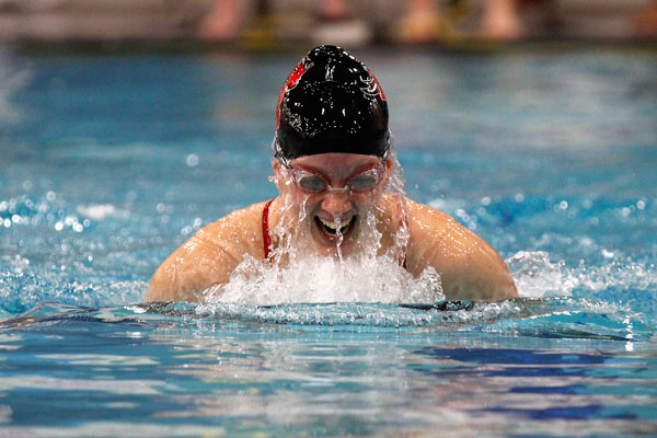 Jillian LaVoie, 12, swims during the swim and vie meet on Oct. 5.
