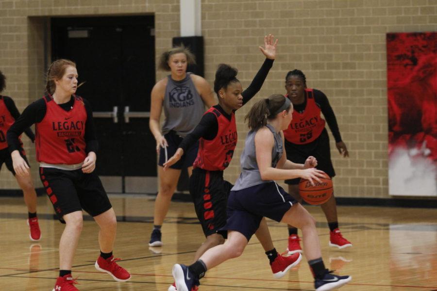 Varsity Girls' Basketball Team Plays Flower Mound